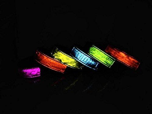 Namsan Seguridad LED Brazalete Noche Ciclismo Jogging Walking reflectante del brazal intermitente impermeables entusiastas al aire libre visibles ajustables Iluminación Hip-Hop o Ejecución Puntales co amarillo