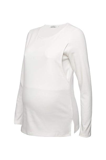 336a19c5181 Sosolism Women's Comfy Maternity Nursing Tee Shirt Long Sleeve Flattering  Sides Double Layer Breastfeeding Tops