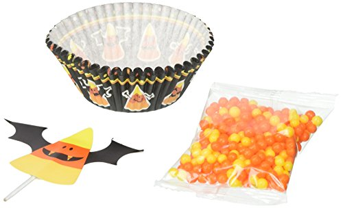 Wilton 415-3174 Candy Corn Cupcake Decorating Kit, (Wilton Halloween Cupcake Kits)