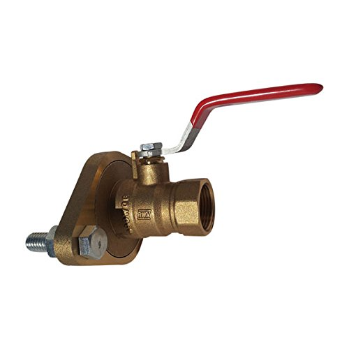 Red-White Valve 34RW2417AB Lead Free Pump Flange Ball Valve, 3/4'' by Red-White Valve