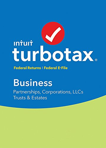 Intuit TurboTax Business 2017 Turbo Tax with Federal Efile for Corporation Partnership LLC Trust Estate -  Quicken, ITICD55129WI