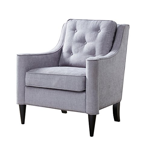Adaline Rolled Arm Accent Chair Silver See Below