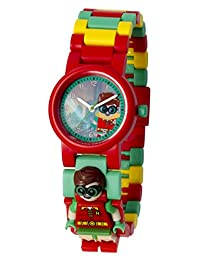 LEGO Batman Movie Robin Kids Minifigure Link Buildable Watch | red/green | plastic | 28mm case diameter| analog quartz | boy girl | official