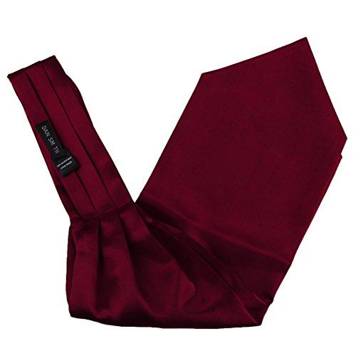 Red Solid Mens Ascot Handmade Cravat Fantastic Accessories for Marriage Dan Smith DRA7E01B Dim Red