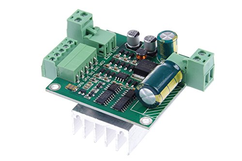 KNACRO PWM DC motor drive board with heat sink 12V 24V 36V Max 360W Forward/Reverse For DIY trolley,robot,various control by KNACRO