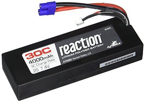 (Dynamite Reaction 7.4V 4000mAh 2S 30C LiPo Hard Case: EC3 Battery)