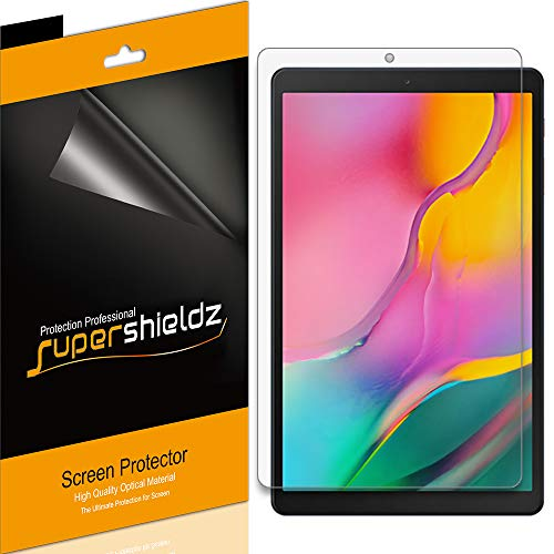 Supershieldz (3 Pack) for Samsung Galaxy Tab A 10.1 (2019) (SM-T510 Model) Screen Protector, High Definition Clear Shield 0.23mm (PET)