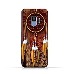 Samsung Galaxy S9 TPU Silicone Protective Case with American Feathers Design