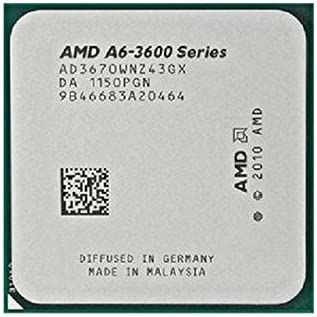 Amazon Com Amd A Series A6 3670k Quad Core 2 7 Ghz Ad3670wnz43gx Cpu Processor Socket Fm1 905 Pin Computers Accessories