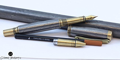 - Handmade Schimmel Pen, Real Handmade Damascus Steel fountain pen & rollerball pen, Comes in gift box tuned and tested nib of your choice!!