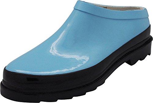 NORTY - Womens Waterproof Rain and Garden Clog Shoe, Light Blue 40681-8B(M) US