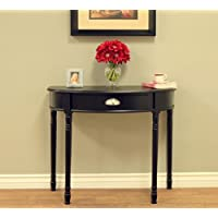 Frenchi Home Furnishing Console Sofa Table with Drawer, Black, None