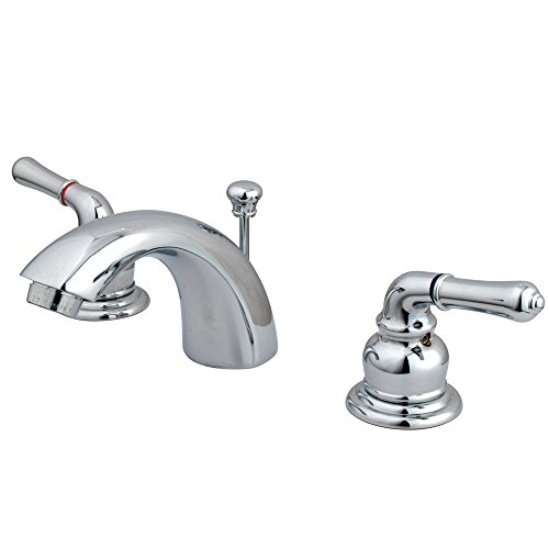 Elements of Design Victorian EB951 Mini Widespread Lavatory Faucet with Retail Pop-Up, 4-Inch to 8-Inch, Polished Chrome