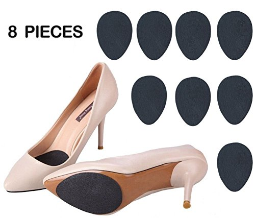 Slip Heels (Anti-Slip Stick on Shoe Grip (8 pcs) Pads Non-Slip Rubber Adhesive Sole Protector No Slip Cushion Heel Replacement Pad Prevention)
