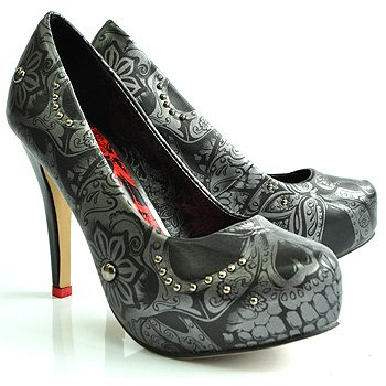 1a3ec2a5ac477d Iron Fist Sweet Skull  O  Mine Design High Heel Platform Shoes (Black)   Amazon.co.uk  Shoes   Bags