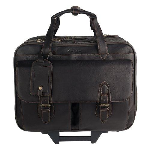 Breckenridge Wheeled Laptop Case - Brown