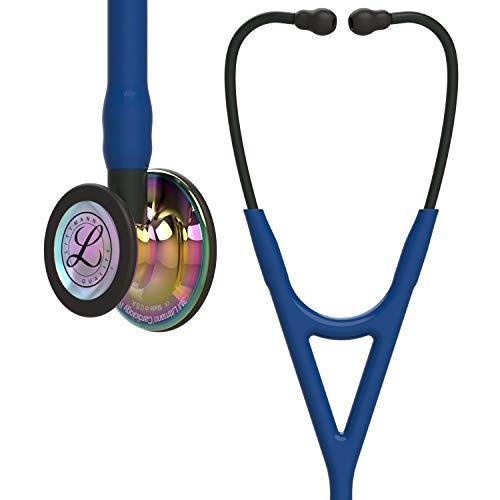 3M Littmann Cardiology IV Diagnostic Stethoscope, High Polish Rainbow-Finish Chestpiece, Navy Tube, Black Stem and Black Headset, 27 inch, 6242 (Color: Navy Tube,  Black Stem and Black Headset)