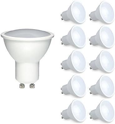 Bombilla LED GU10 de 6 W Vlio, luz blanca fría 6000-6500 K, luz LED regulable, ...
