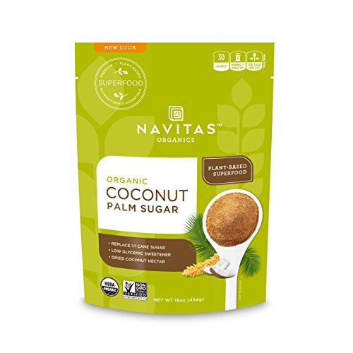 Navitas Organics Coconut Palm Sugar, 16 oz. Bags (Pack of 2) — Organic, Non-GMO, Gluten-Free, Sustainable