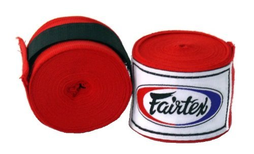 1-Pair-of-New-Fairtex-Muay-Thai-Elastic-Cotton-Handwraps-HW2-180-Full-Length-Hand-Wraps-for-all-sports-Muay-Thai-Kick-boxing-MMA-K1-Karate-Judo-Kung-Fu-Available-in-Back-Blue-Red-White-Bleach-Purple-P