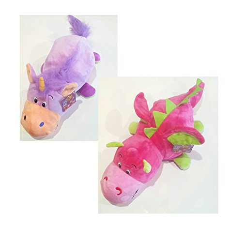 FlipaZoo (Pink Dragon to Purple Unicorn – 16in) by Jay at Play – Transforming Plush Toy is Not Your Average Stuffed Animal – 2-in-1 Toy Gives Kids Two Exciting Character (Allen Stuffed Animal)