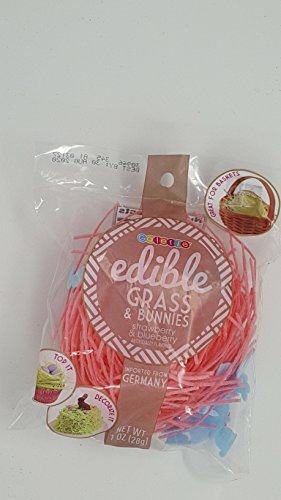Edible Grass (Edible grass and bunnies in 3 flavorful colors Strawberry, Blueberry, Green apple inported from Germany assorted colors some mixed my choice)