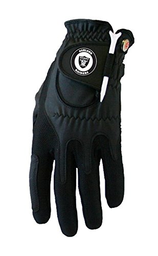 Zero Friction NFL Compression Fit Mens Gloves-Mens Left Hand-Oakland Raiders