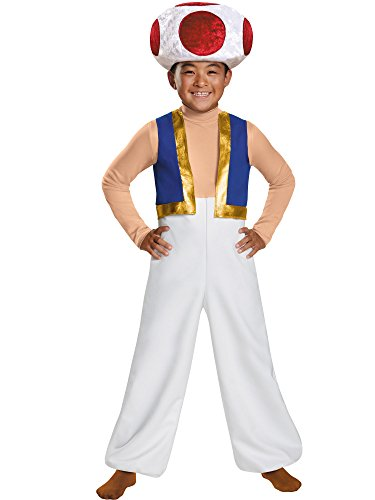 Toad Deluxe Costume, Medium (7-8) -