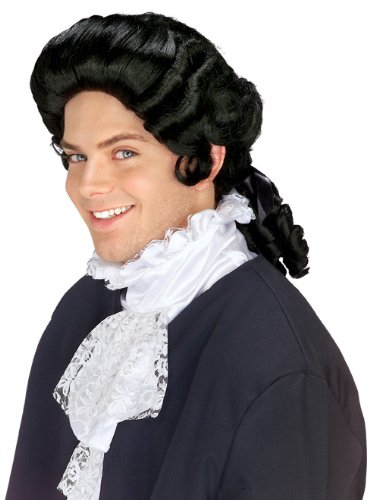 Rubie's Costume Colonial Man Wig, Black, One (Colonial Costumes For Adults)
