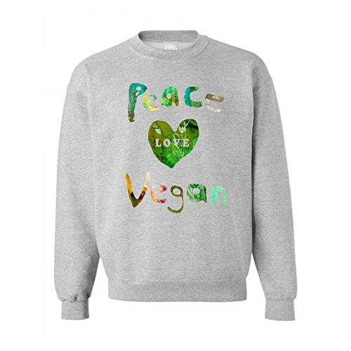 Peace Love Vegan Quote Unisex Sweater
