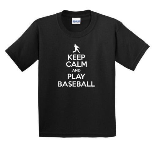 Keep Calm Baseball Youth T Shirt