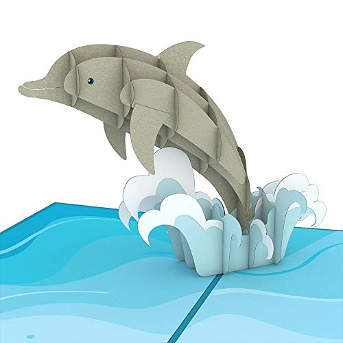 Lovepop Dolphins 3-D Pop-Up Greeting Card]()