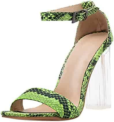 0abea6b293835 New Women's High Heel Shoes Fashion Pointed Toe Square Heel Ankle Strappy  Buckle Sandals Shoes