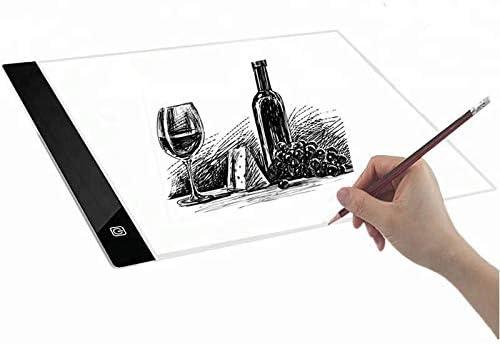 Caja de luz LED A4 ultrafina para dibujo, con almohadilla de ...