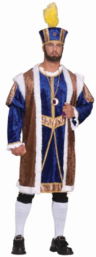 King Arthur Halloween Costume (Forum Novelties Men's Plus-Size Extra Big Fun Henry The Viii Costume, Multi, 3X-Large)