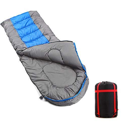Saco de Dormir para Adultos Relleno de Fibra sintética para Acampada Senderismo con Bolsa de compresión Blue-2.3KG Version