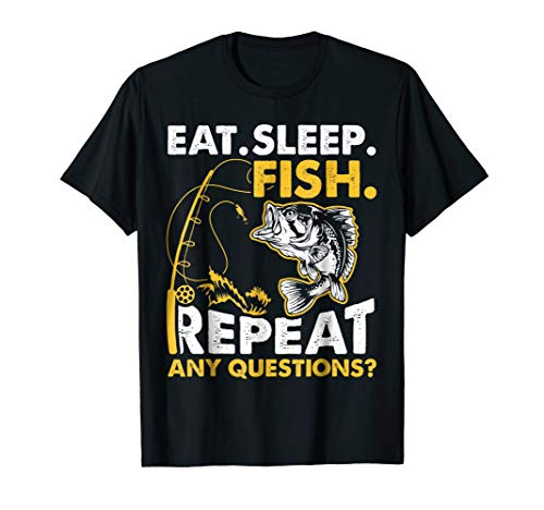 Eat Sleep Fish Repeat Funny Fishing Gifts T-Shirt