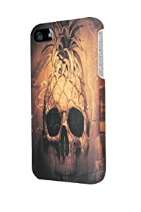 ip50324 skull rock pine Glossy Case Cover For HTC One M8