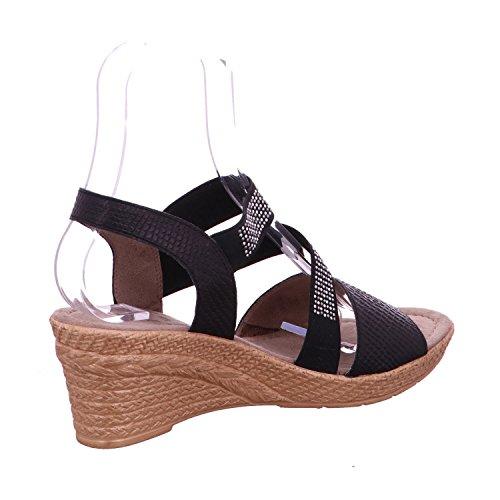 Noir Plate Un Sandalssandals Noir De forme Avec Jana Chaussures qT1Y88