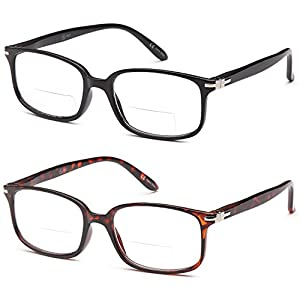 ALTEC VISION Pack of 2 Classic Style Bifocal Readers Spring Hinge Reading Glasses – 1.50x