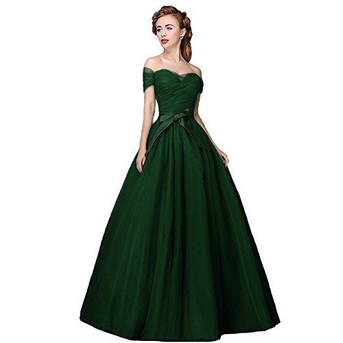 8d0fffb875204 Plus Size Off The Shoulder Formal Prom Quinceanera Dress Emerald Green US  20W