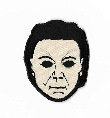 Halloween Patch (3.5 Inch) Embroidered Iron on Badge Applique Michael Myers Mask Horror Movie Souvenir Slasher Costume Resurrection Return -