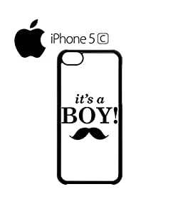LJF phone case It is a Boy New Baby Maternity Mobile Cell Phone Case Cover iPhone 5c Black