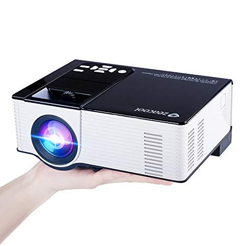 Zeacool Video Projector, Newest Upgrade 2200 Lumens LED Portable Home Theater Projector with 1080P Support, Compatible with Fire TV Stick, PS4, Smart Phone, PC & More for Movies, TV and Gaming