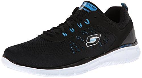Skechers Equalizerdeal Maker, Sneaker basse Uomo Nero (Schwarz (Bkbl))