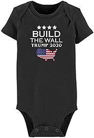 GEUIOWMPQ Unisex Baby Trump-2020- Newborn Clothes Short Sleeve Bodysuit for Baby Boy Girl