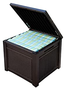 Amazon Com Keter 55 Gallon Outdoor Rattan Style Storage