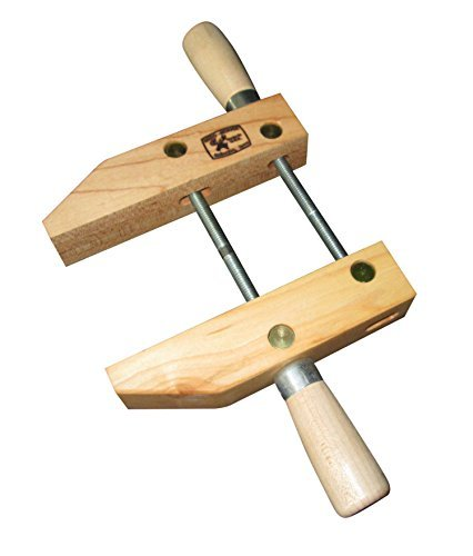 Dubuque Clamp Works Made in USA Wood Hand Screw Clamp 6 inch Hard Maple jaw by Dubuque Clamp Works by Dubuque Clamp Works
