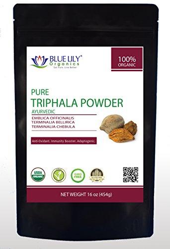 Blue Lily Organics Triphala Powder - 1 Lb (16 Oz) - Pure, Non-GMO, USDA Organic