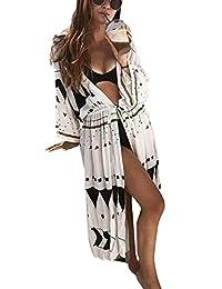 Jeasona Women's Bathing Suit Cover up Beach Bikini Kimono Cardigan
